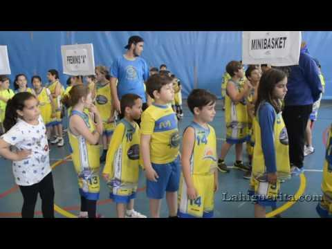 Fiesta clausura del curso de baloncesto 2016 en Isla Cristina