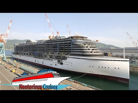 AIDAprima Cruise Ship  Full Construction Timelapse by