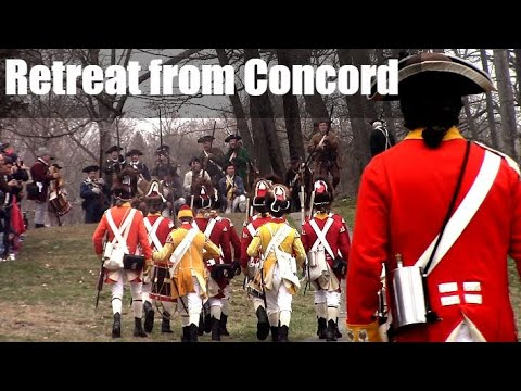 Reenactment of the Retreat from Concord, Tower Park, Patriot's Day 2018