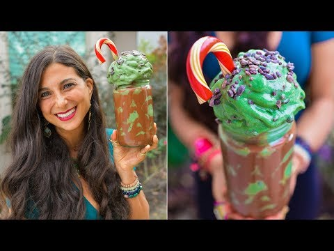 Grinch Stole My Ice Cream! Healthy Holiday FullyRaw How To...