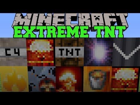 Minecraft: EXTREME TNT (SUPERNOVA, HYDROGEN BOMB, & MORE EXPLOSIVES!) Mod Showcase