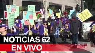 Trabajadores toman las calles de Los Ángeles – Noticias 62 - Thumbnail