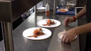 Van Zon prepares a main dish at WY in Brussels