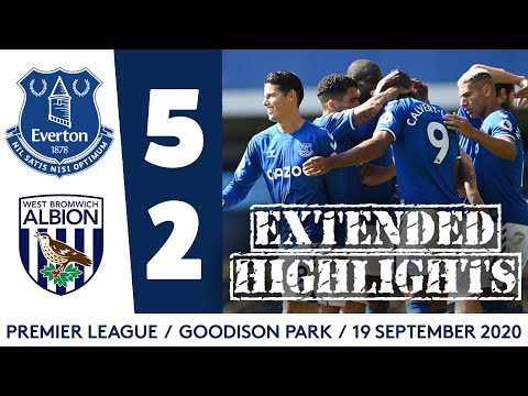 EXTENDED HIGHLIGHTS: EVERTON 5-2 WEST BROM