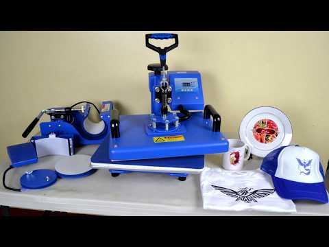 6 in 1 Sapphire® Multifunction heat press machine printing tutorial