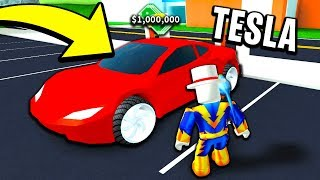 ROBLOX MAD CITY BUYING THE TESLA ROADSTER