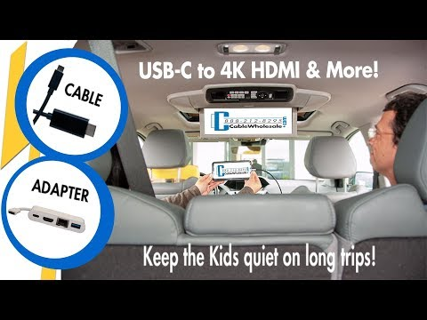 How-To USB-C to 4K HDMI Multi Adapter - For Phones, MacBook Pro & More!!