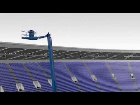 Genie® SX-180 : The highest reaching self-propelled boom in the world