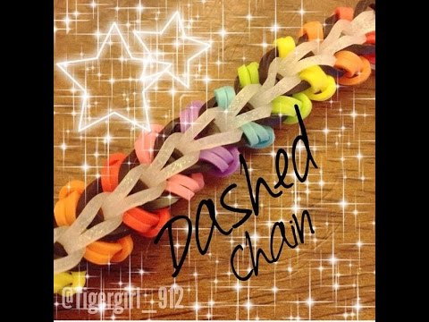 NEW Dashed Chain Rainbow Loom Bracelet
