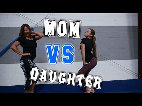 Mom VS Daughter Gymnastics Competition  Rachel Marie (видео)