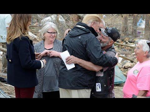 Αλαμπάμα: Ο Τραμπ στις πληγείσες περιοχές