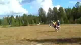 7. RM 125 Dirt bike wheelie