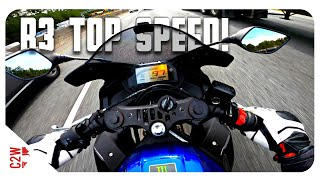 3. Finding the 2020 R3's TOP SPEED!   3 Bikes and a burger run!