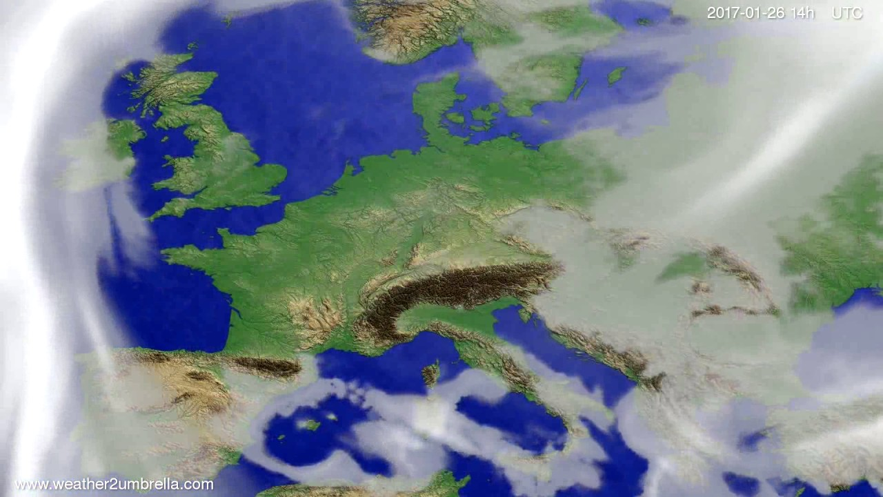 Cloud forecast Europe 2017-01-22