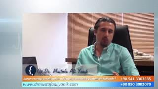 Op. Dr. Mustafa Ali Yanık burun estetiği ameliyatlarında hangi tip anestezi kullanılır