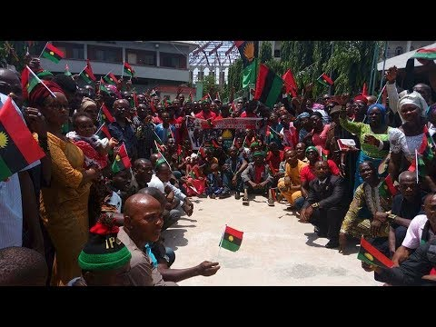 "BIAFRA: KANU"" ODUDUWA IS NOT OUR PROBLEM"" AREWA IS THE PROBLEM. Live."