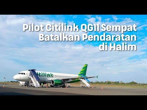 Pilot Citilink QG11 Sempat Batalkan Pendaratan di Halim