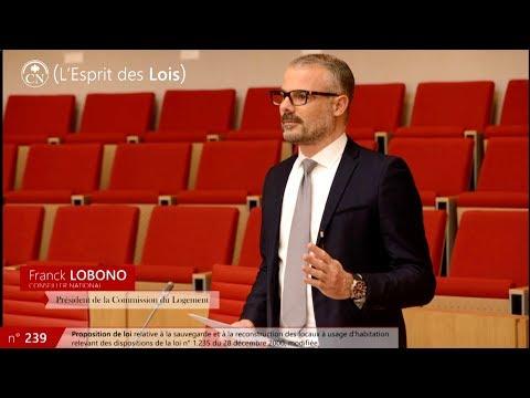 Proposition de loi n°239 sur le Secteur Protégé - Franck LOBONO - L'esprit des lois