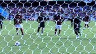 Brasileirão 2008 - Estádio Maracanã - Flamengo 3 x 3 Goiás - Gols do Verdão: Ernando, Paulo Baier e Thiago Feltri - Imagens: Globo.