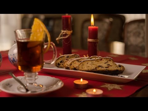 Christmas atmosphere - stollen and punch