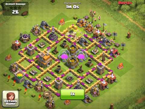 lvl - This video shows how to arrange the base for a Town Hall Level 7 wall defense so it survives an average attack. Note that the walls are arranged around the c...