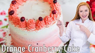Ombre Orange Cranberry Cake by Tatyana's Everyday Food