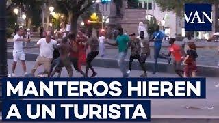 Un turista americano herido tras una pelea con manteros