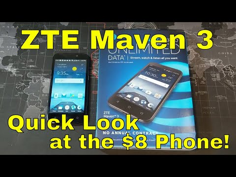 ZTE Maven 3 - Quick look and testing out the $8 phone!