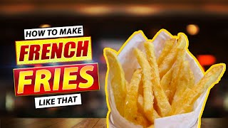 Mc Donald Style French Fries at Home Recipe by Hamza's Kitchen   How to Make French Fries Recipe