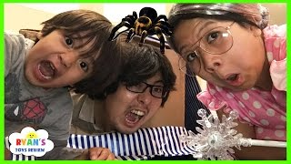 Video CLUMSY GRANDMA magic wand transform! Daddy trap inside a box spider attack pretend play funny skit MP3, 3GP, MP4, WEBM, AVI, FLV Mei 2018