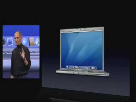 macworld - Here we see Steve Jobs introducing the first ever MacBook Pro with Intel inside.