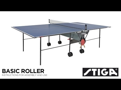Stiga Basic Roller Indoor Table Tennis Table Assembly