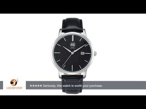 AIBI Ultra-thin Black Dial Men's Minimalist Quartz Watch with Date and Leather Band | Review/Test