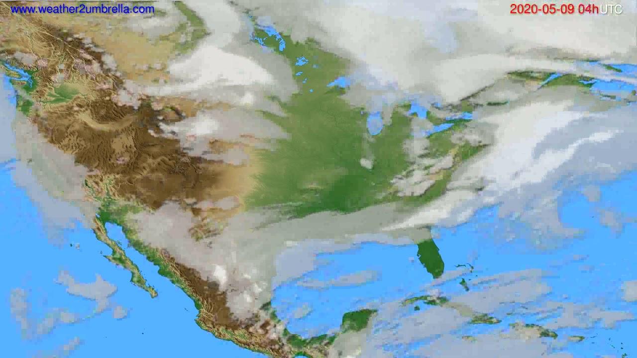 Cloud forecast USA & Canada // modelrun: 12h UTC 2020-05-08