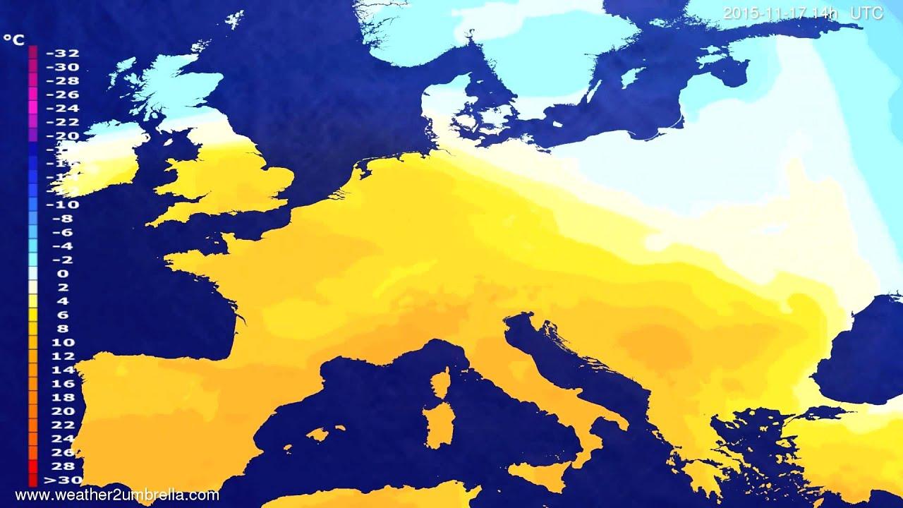 Temperature forecast Europe 2015-11-15