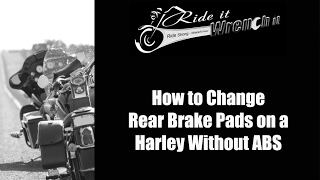 10. How to Change Rear Brake Pads on a Harley Street Glide Without ABS