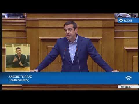 Ομιλία στη συζήτηση για την πρόταση δυσπιστίας κατά της Κυβέρνησης (16/06/2018)