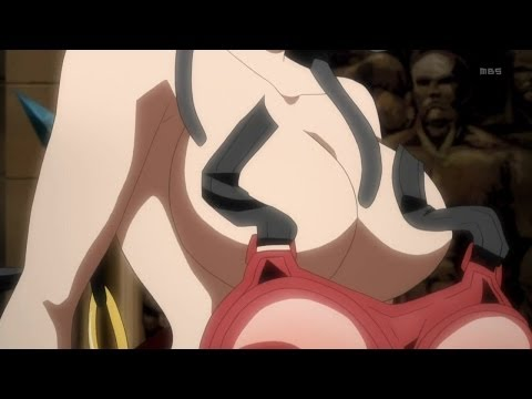 magi - Magi (マギ) Season 2, Episode 9 Scene Epic Sword Fight Between Alibaba and Toto ends up showing off toto's boobs.