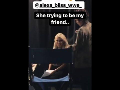 Paige GODDESS Alexa Bliss Instagram Stories WWE Nia Jax Mandy Rose
