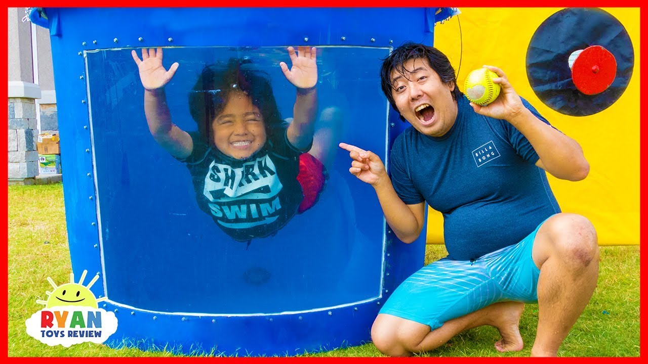 Dunk Tank Challenge Family Fun Games with Ryan ToysReview!!! - YouTube