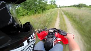1. Polaris Outlaw 450 MXR Gopro Hero 3+ Super view