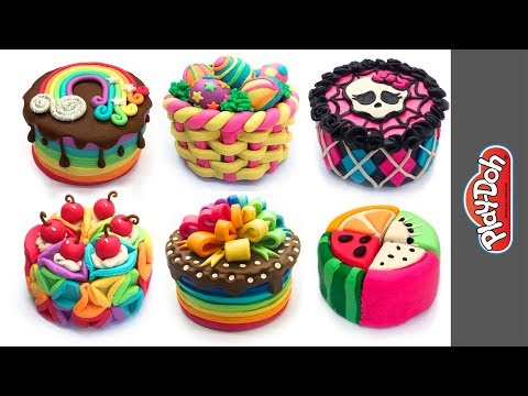 Best Play Doh Cakes. Video Compilation DIY. Doll & Toy Food. Funny Tutorials for Beginners and Kids