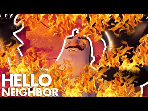 Minecraft Hello Neighbor - Killing The Neighbor With Fire (Minecraft Roleplay) (видео)