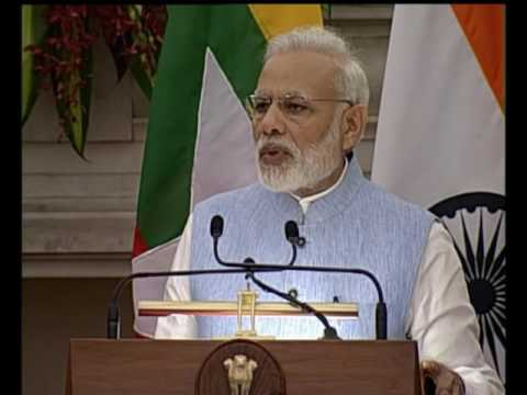 PM Modi's speech at Joint Press Statements with Myanmar State Counsellor Daw Aung San Suu Kyi