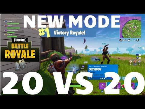 20 vs 20 Win! Fortnite Battle Royale
