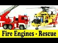 Fire Engines - Rescue - Cars   Family Sing Along - Muffin Songs - пожарная машина