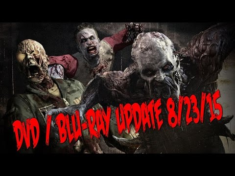 DVD & BLU-RAY UPDATE 8/23/2015 (HORROR MOVIES GALORE!!!!) VIDEO #123