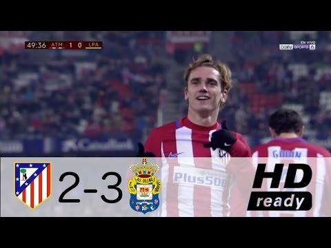Atletico Madrid vs Las Palmas 2-3 - All Goals & Extended Highlights - Copa del Rey 10/01/2017 HD