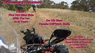 9. Honda CRF250L Rally First Dirt Ride with the Son....