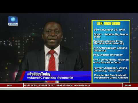 I Will Restructure Nigeria If Elected As President - John Gbor Pt.1 |Politics Today|